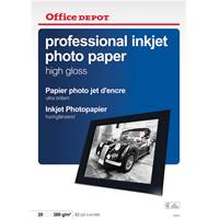 P1178914 Fotopapper Office Depot inkjet professional
