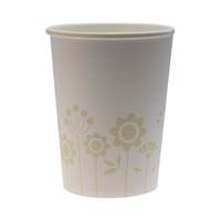 Pappersmugg Text & Flower 24 cl 50 st/fp.